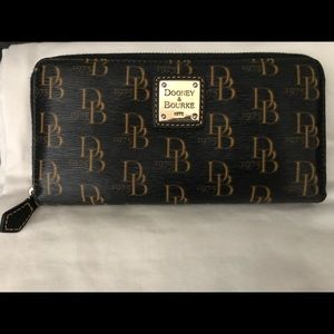 Dooney&Bourke large zip around wallet